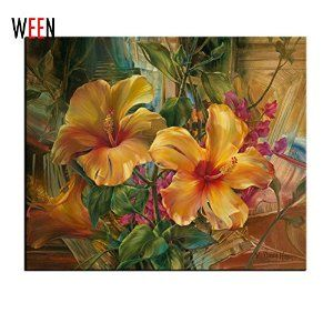 DIY Oil Paint,Paintworks Paint By Number Yellow Canna Indica   http://www.amazon.com/gp/product/B01COR7QVW