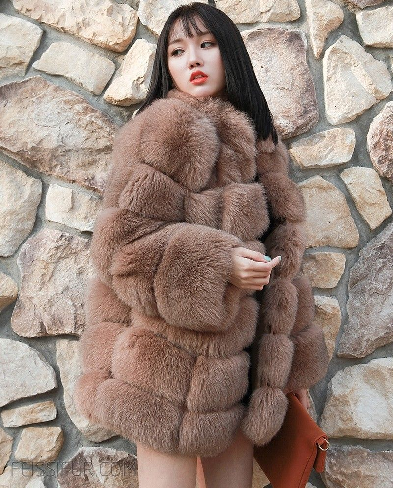 551eb8716d Real Fur Coat & Jacket | Fox Fur Coat - Coffee | SKU-ffcofo278 | Fur Shop  Online