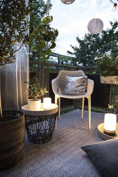 Gemütliches für Balkon und Terrasse am Tag und bei Nacht Garten