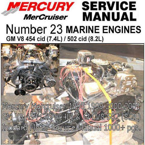 mercury mercruiser service manual gm 454 v8 gm 502 8 2l inboard rh pinterest com mercruiser 888 manual pdf mercruiser manual 8613291