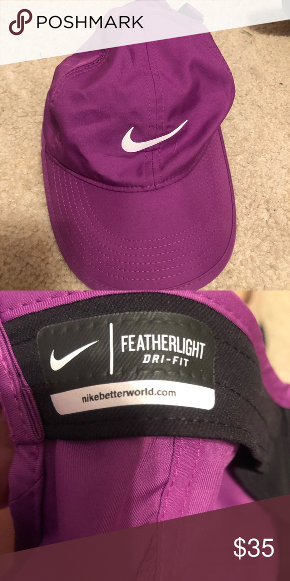 eb42c72ff0e83 Nike featherlight dri fit hat Never been worn. Excellent condition. Purple. One  size fits all Nike Accessories Hats