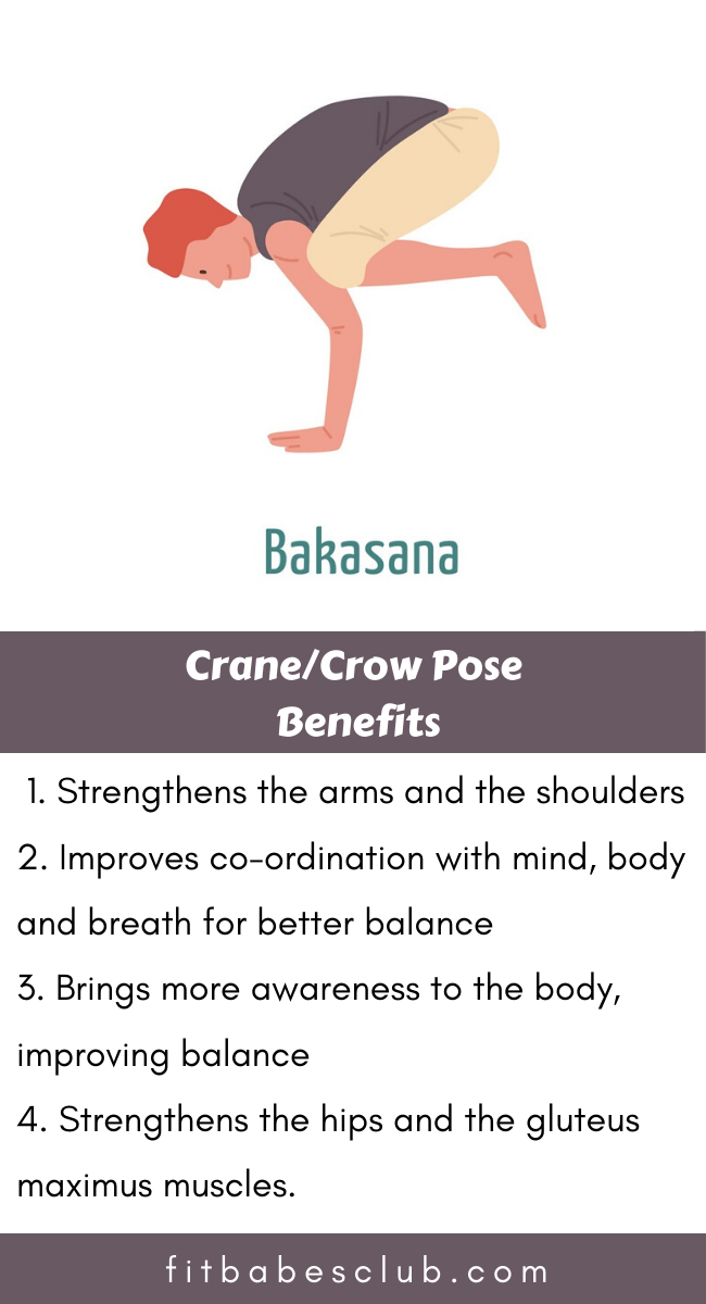 How To Do Crane Pose And Benefits Workout For Beginners Yoga For Flexibility Yoga Poses Advanced