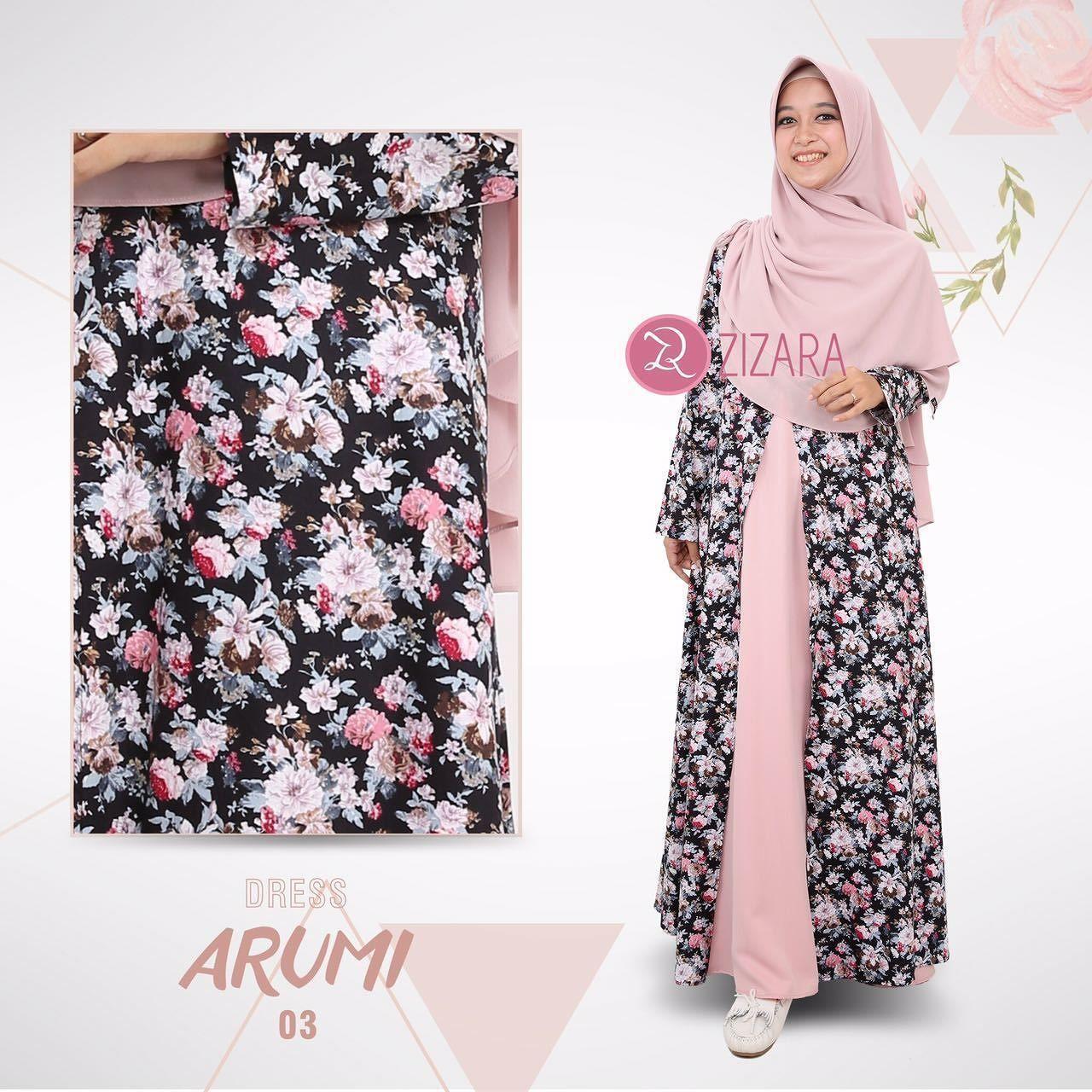 Gamis Zizara Arumi Dress 03 Baju Muslimah Busana Muslim Kini Hadir
