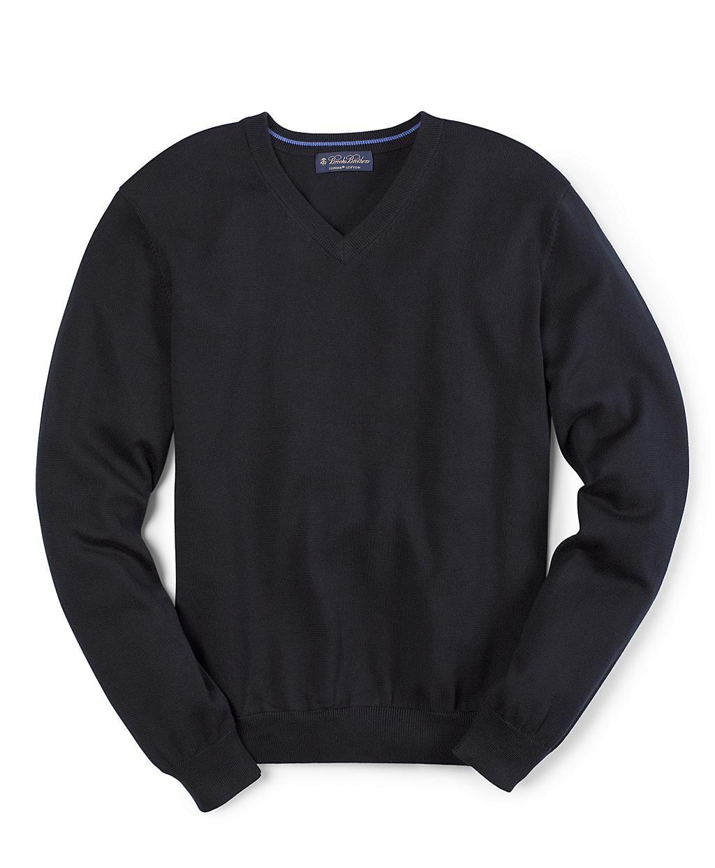Supima® V-Neck Sweater, $79.50