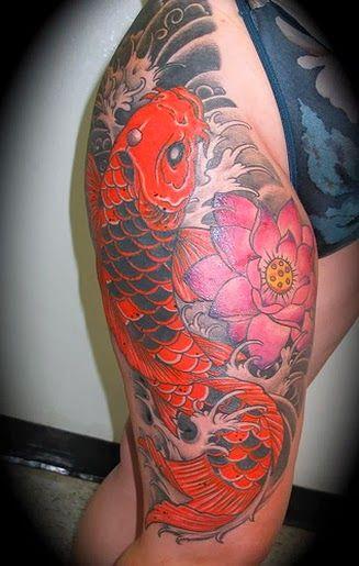 Women Koi Fish Tattoo Thigh Tattoo Design Koi Fish Tattoo Tattoos Japanese Koi Fish Tattoo