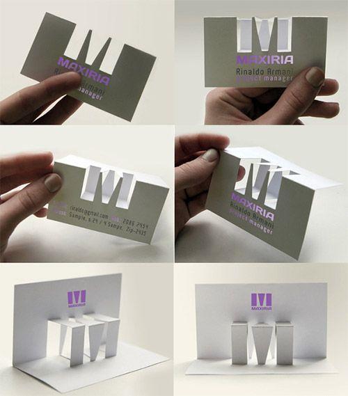 Conhecido 16 cartões de visita dobráveis para vocês se inspirar | Cartões de  TM77