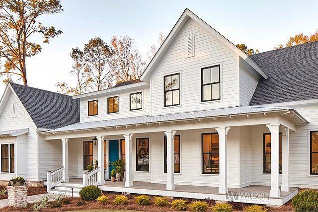 Best Top 5 White Modern Farmhouse Exteriors Home Bunch 400 x 300