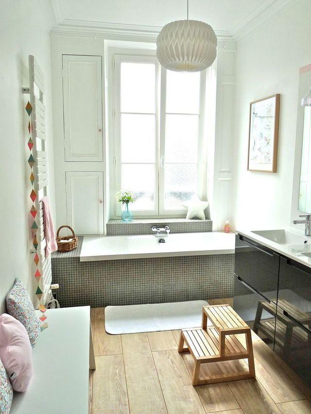 Salle de bains familiale déco Interiors, Bath and House