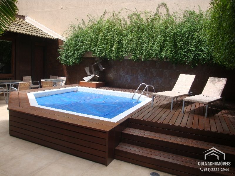 Quintal com piscina de fibra pesquisa google beach for Piscina madera pequena