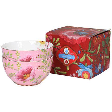 Buy PiP Studio Chinese Rose Bowl, Set of 2, Pink Online at johnlewis - edles geschirr besteck porzellan silber