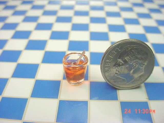 Blood Root Miniature Halloween Small Canister DOLLHOUSE Miniatures 1:12 Scale