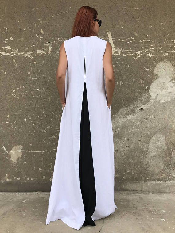 White Linen Dress Plus Size Linen Dress Linen Dress White Kaftan