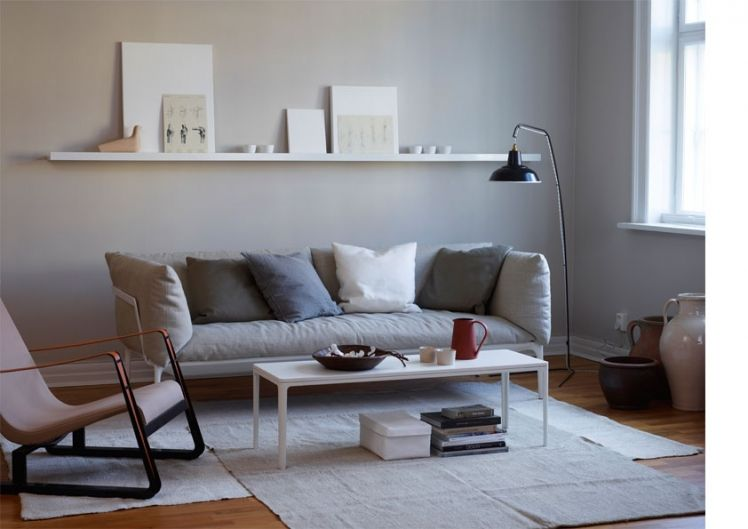 Ein Regal überm Sofa Wohn- und Esszimmer Pinterest einfache - dekorative regale inneneinrichtung