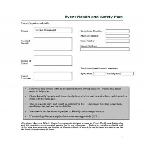 29 Effective Safety Plan Templates & Examples in 2020