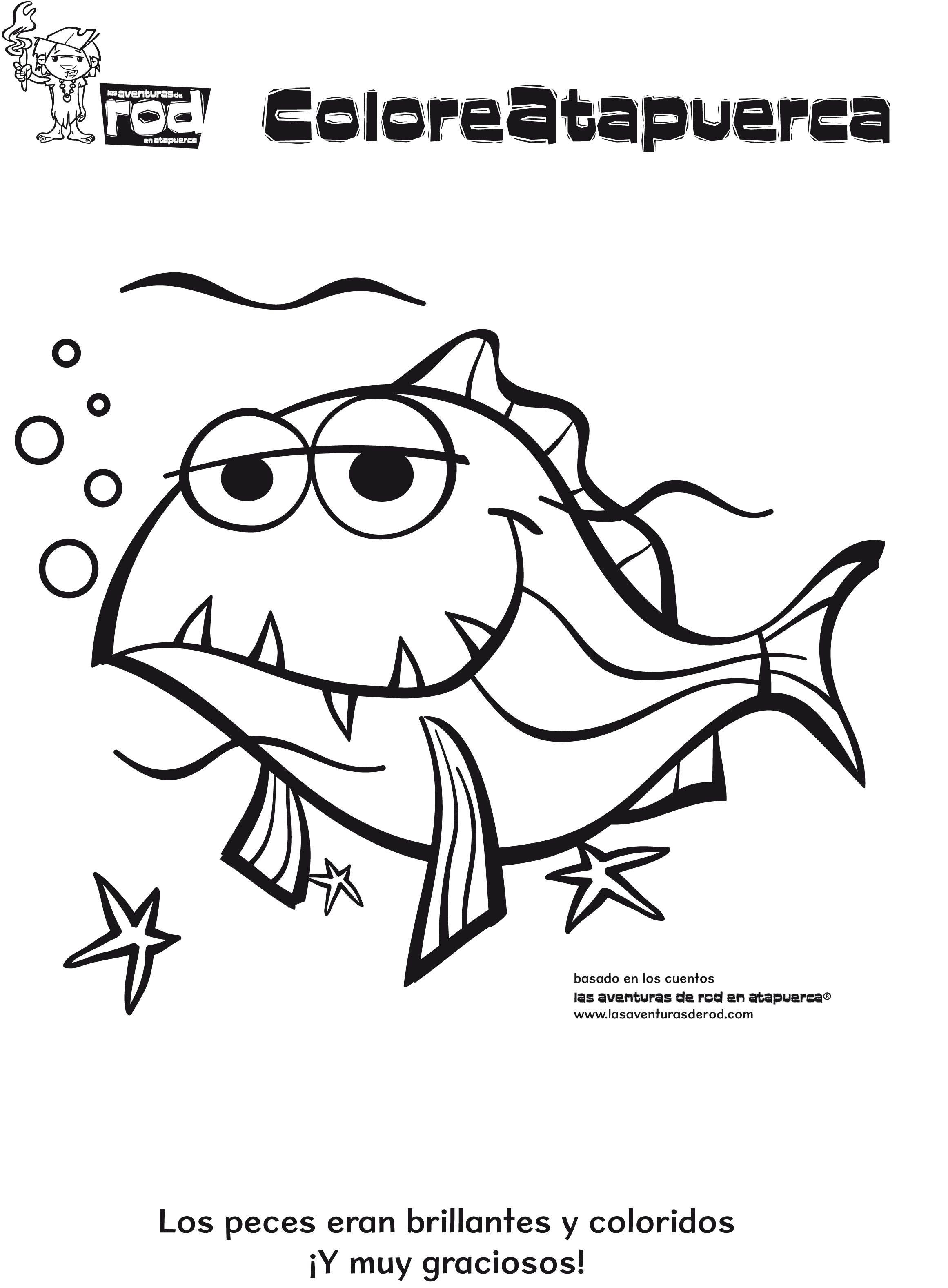 07-dibujos-para-colorear-animales-pez.jpg (2322×3154)   PREHISTORIA ...