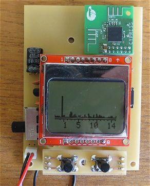 Arduino 2 4 GHz Spectrum Analyser | 5110 lcd | Spectrum analyzer