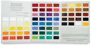 Michael Harding Artists Oil Color Handmade Color Chart Blick Art Materials In 2020 Paint Color Chart Color Chart Power Colors