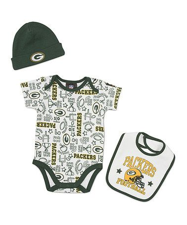 Take a look at this White Green Bay Packers Layette Set - Infant by NFL on   zulily today! be0e34a39