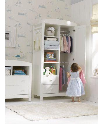 773fac056e6c4 Mothercare Padstow Wardrobe- Porcelain White | Kids spaces | White ...