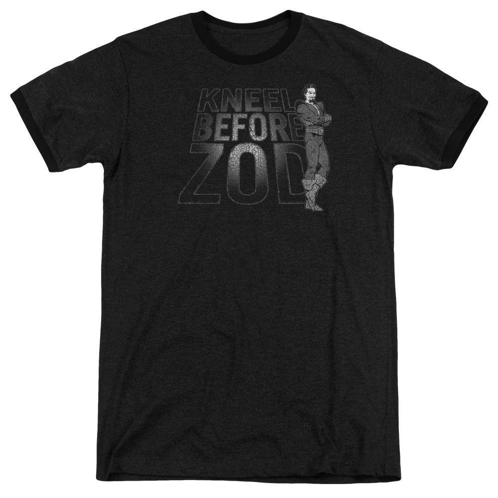 DC Comics Kneel Zod Black Ringer T-Shirt