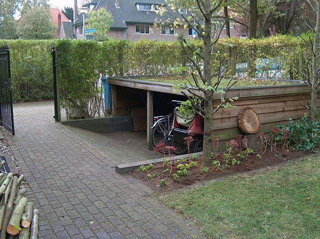 Extreem Wij willen graag een fietsenstalling met groen dak. Zie BZ27