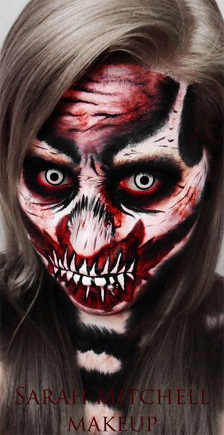 make up 2018 30 scary halloween schmink looks trends ideen 2018 lippenmakeup eyesmakeup. Black Bedroom Furniture Sets. Home Design Ideas