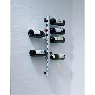 8 Holes Hanging Stainless Steel Wine Bottle Holder Rack   eBay - hanging wine rack vertical