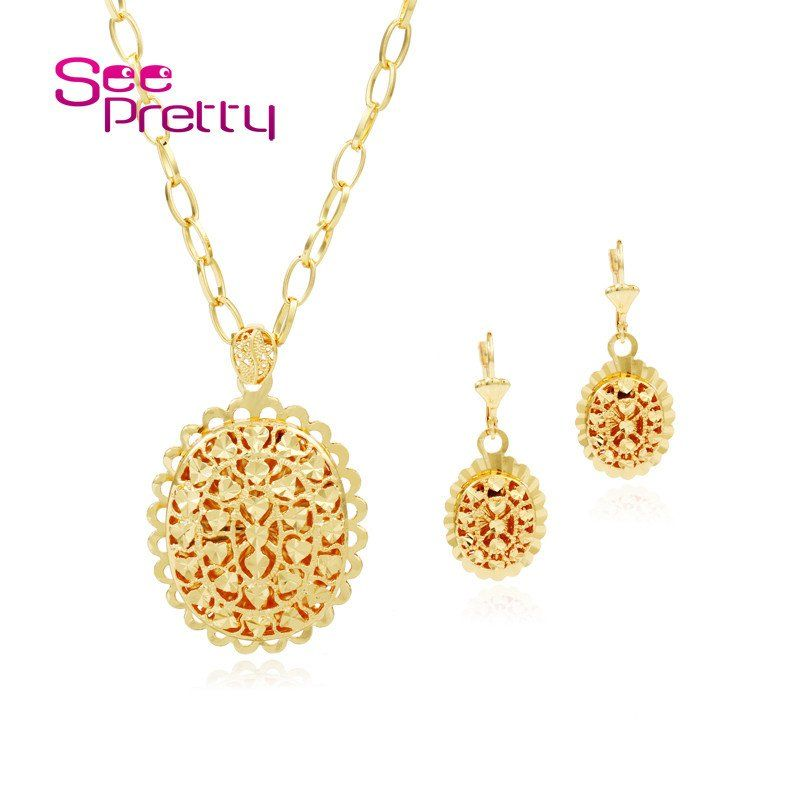 for plated fashion women colorfast from necklaces flower vacuum item big necklace jewelry gold in pendant long chain