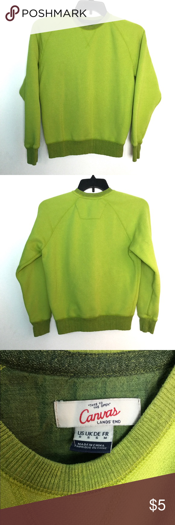 Lands End S Sweatshirt Lime Canvas Sweats Guc Guc Good Used Condition No Visible Holes Or Fabric Distress Perfect Sweatshirts Clothes Design Sweatshirt Tops [ 1740 x 580 Pixel ]