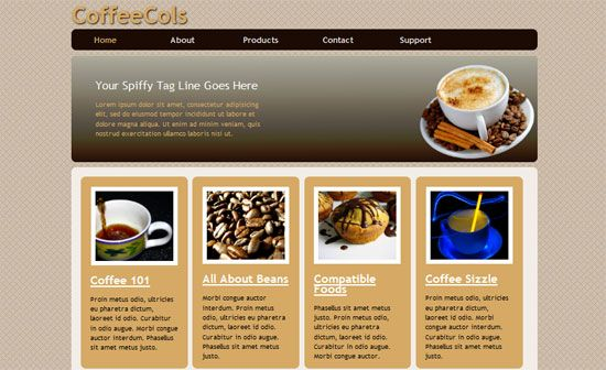 Coffee Shop Html5 And Css3 Style Template Website Template Templates Web Design