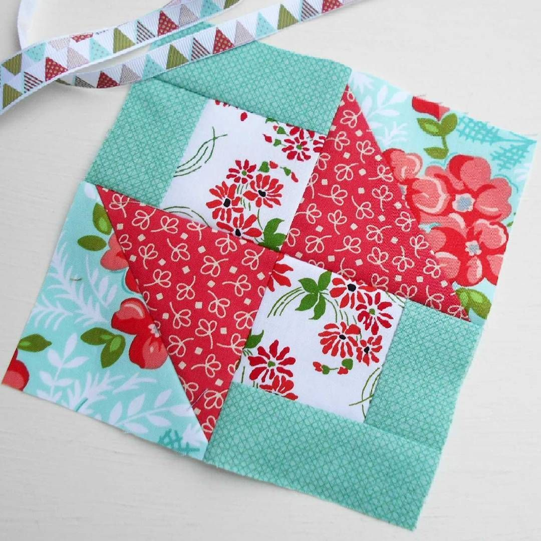 The Splendid Sampler block no. 30 - Simple Surprises.  A lovely, quick patchwork block from Amy Ellis.