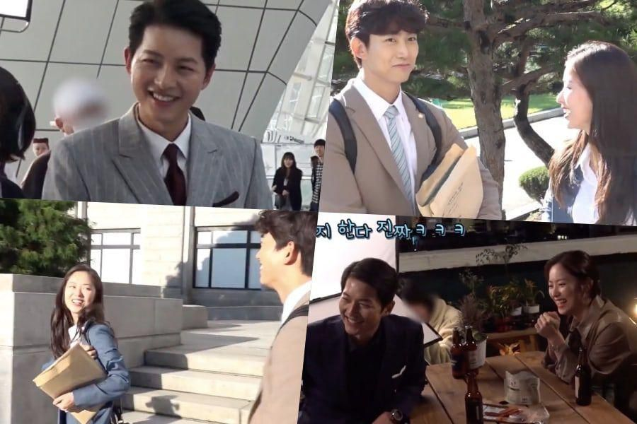 "Watch: Song Joong Ki, Jeon Yeo Bin, And Taecyeon Have Fun During 1st Filming For ""Vincenzo"""