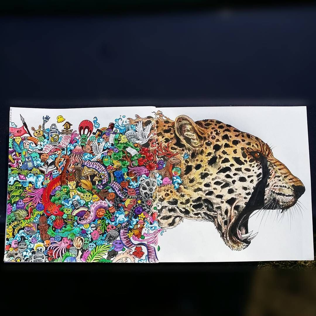 Animorphia an extreme coloring and search challenge by kerby rosanes - From Animorphia Zentanglescolouringdoodles