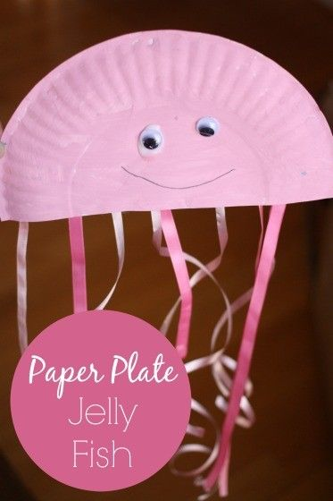 A Paper Plate Jellyfish Craft for a Preschool Ocean Theme & Paper Plate Jellyfish Craft for Preschool   Paper plate jellyfish ...