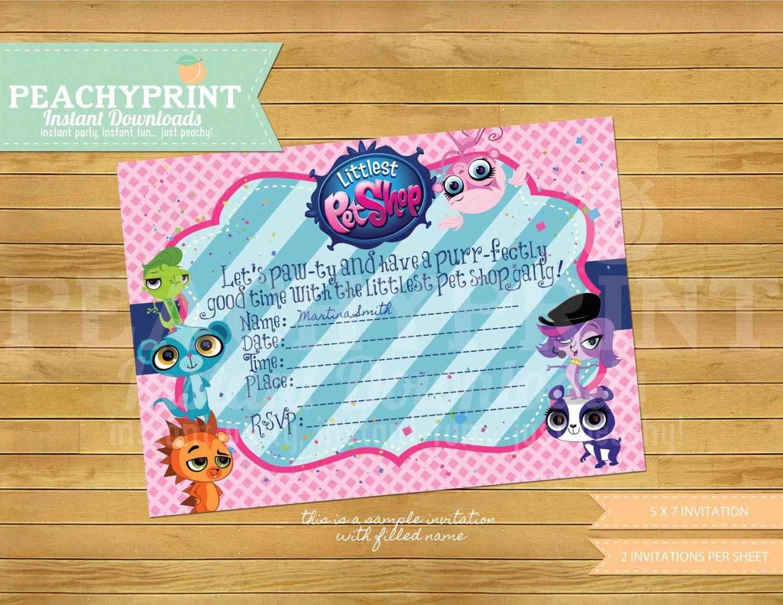 Littlest Pet Shop Birthday Invitation Instant Download | Pet shop ...