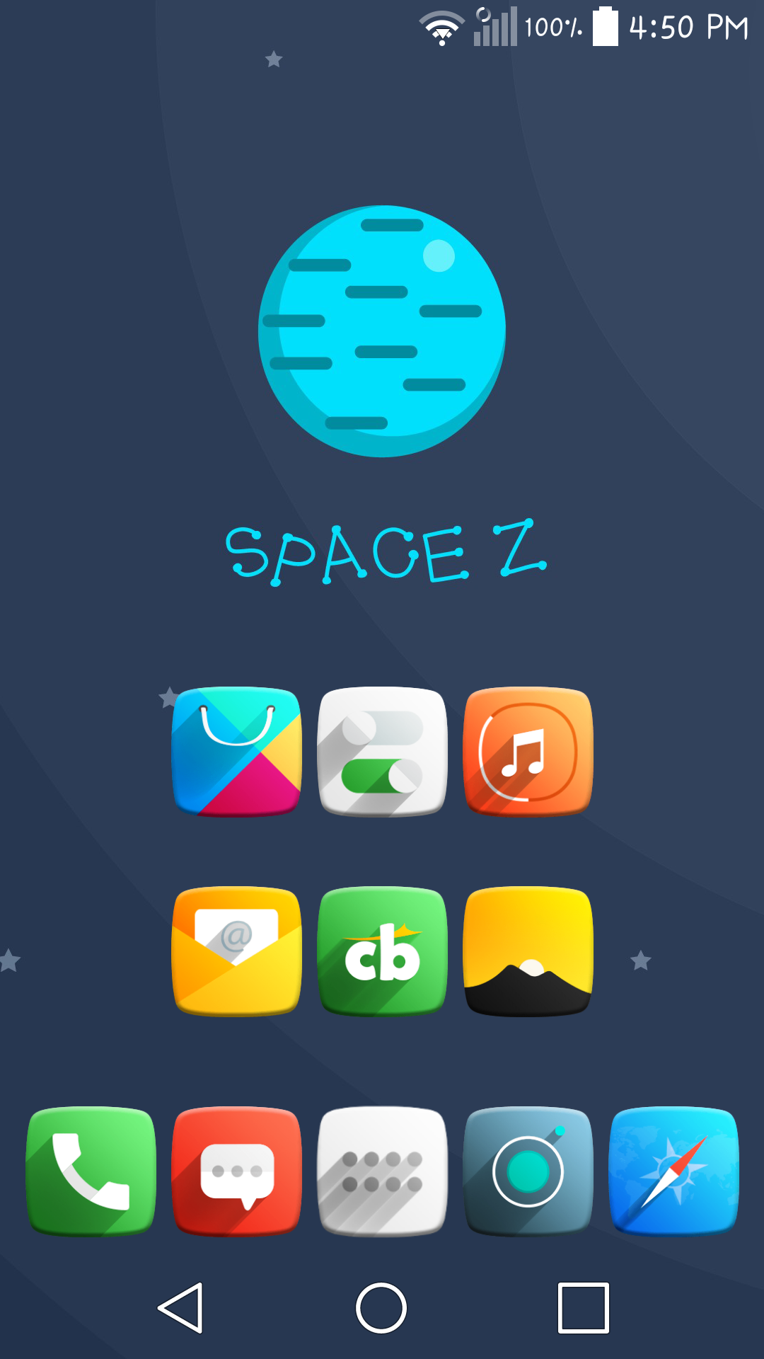 Lost in Space Setup made using Space Z icon pack https