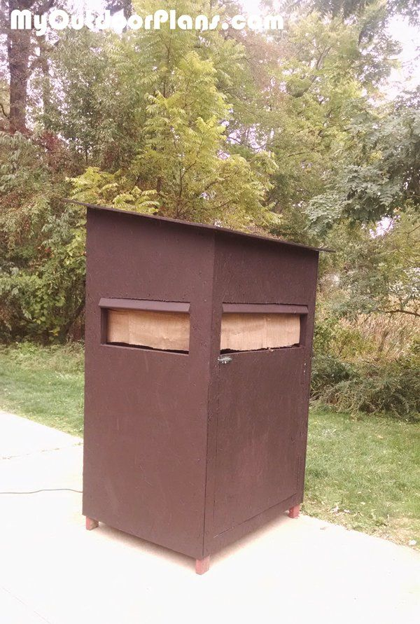 Diy 4x4 Deer Blind Myoutdoorplans Free Woodworking