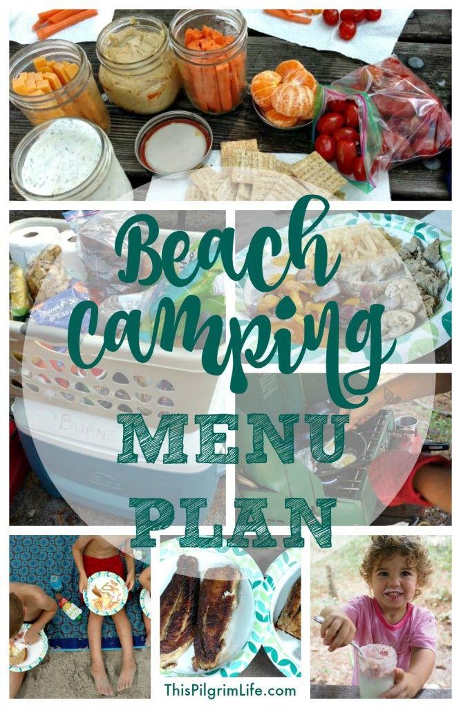 Beach Camping Menu Plan
