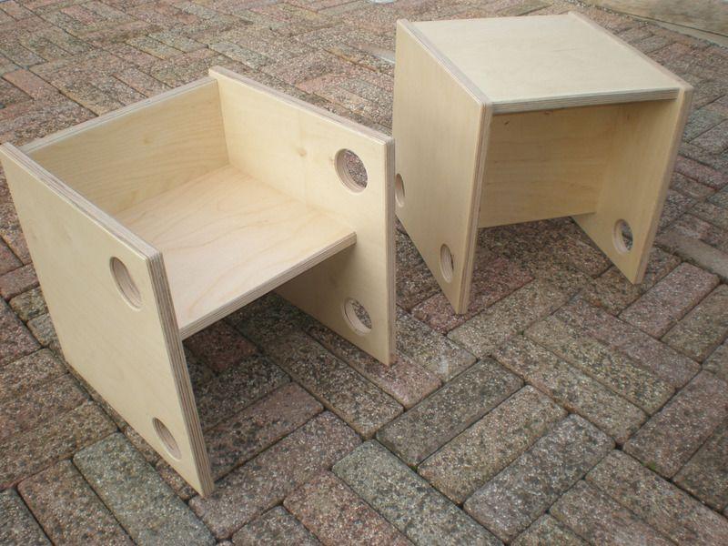 w rfelhocker wendehocker stuhl aus birkemultiple von lampiderholzwurm auf kinder. Black Bedroom Furniture Sets. Home Design Ideas