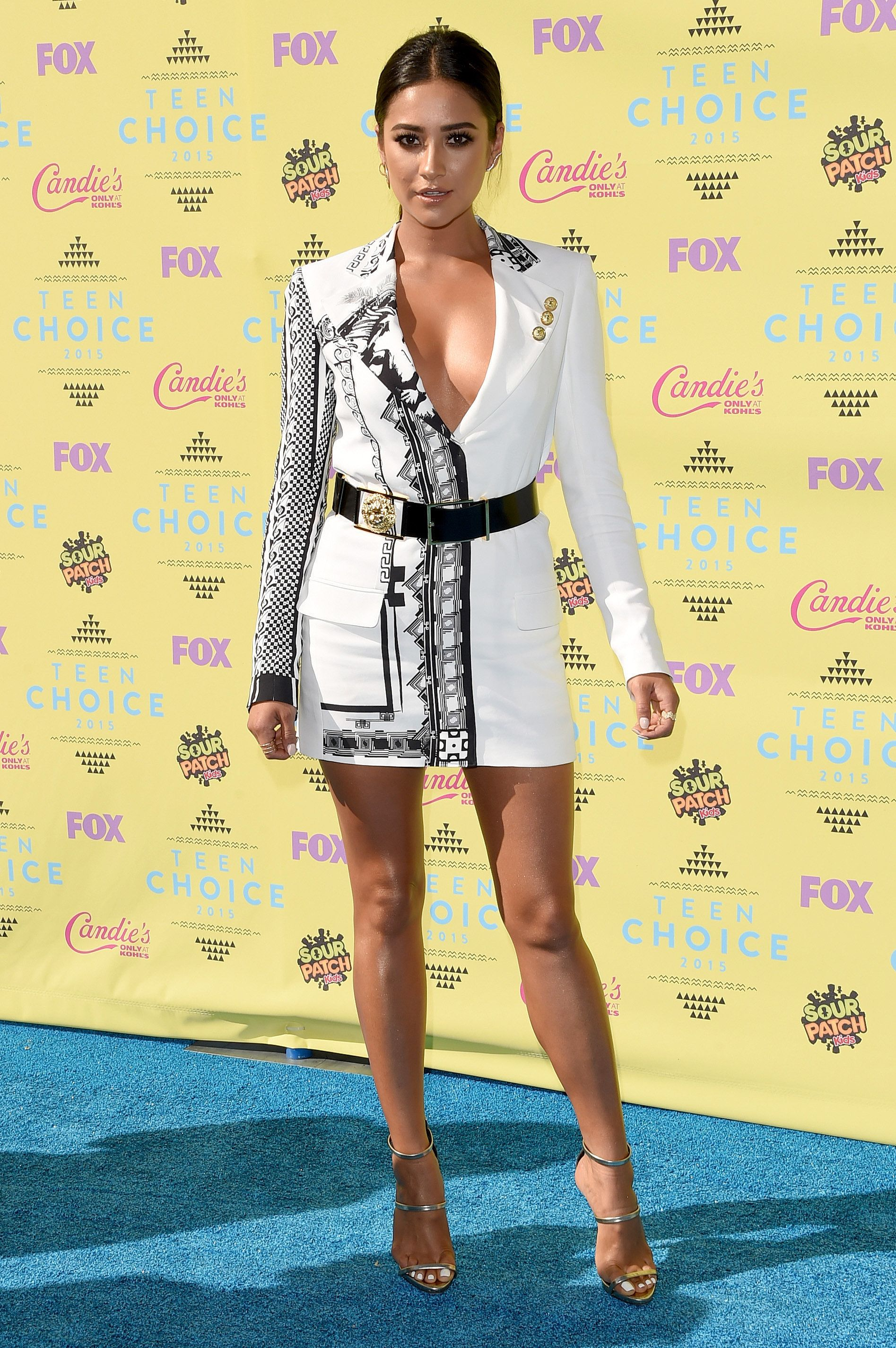 Shay Mitchell The actress rocked a Versus Versace suit dress.