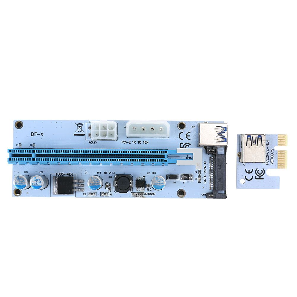 60cm PCI-E PCI Express 1x to 16x Riser Card USB 3.0 Extender Data ...