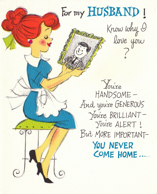 Vintage 1968 For My Husband Happy Birthday Greetings Card B31 – Happy Birthday Cards for Husband