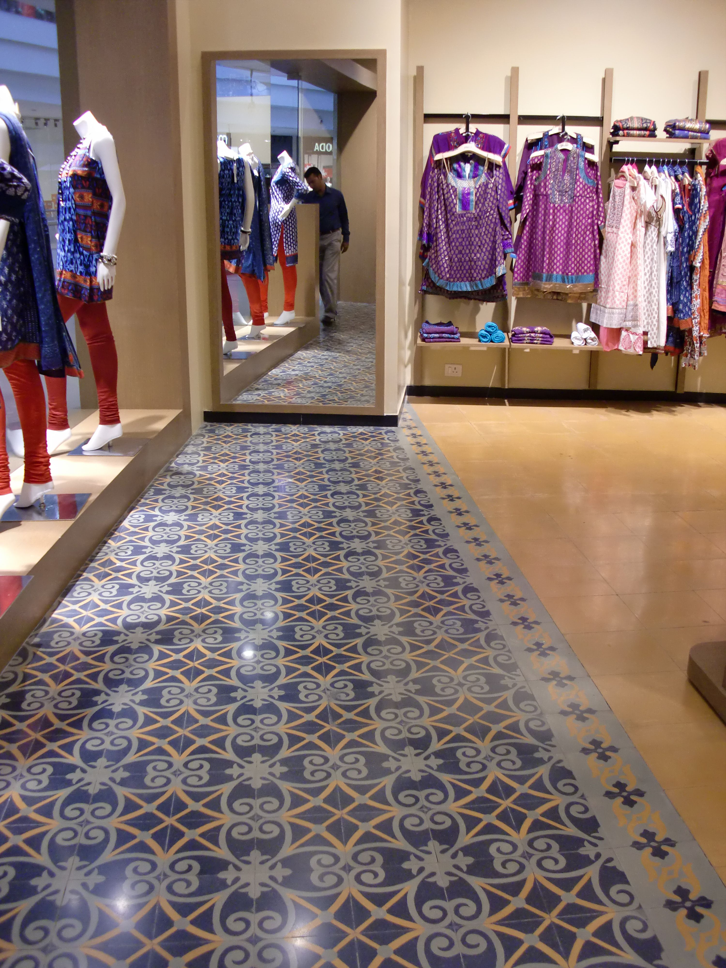 Heritage Tiles In A Retail Outlet