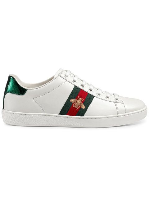 Chaussures baskets sneakers femme en cuir Gucci odS7Yonxp