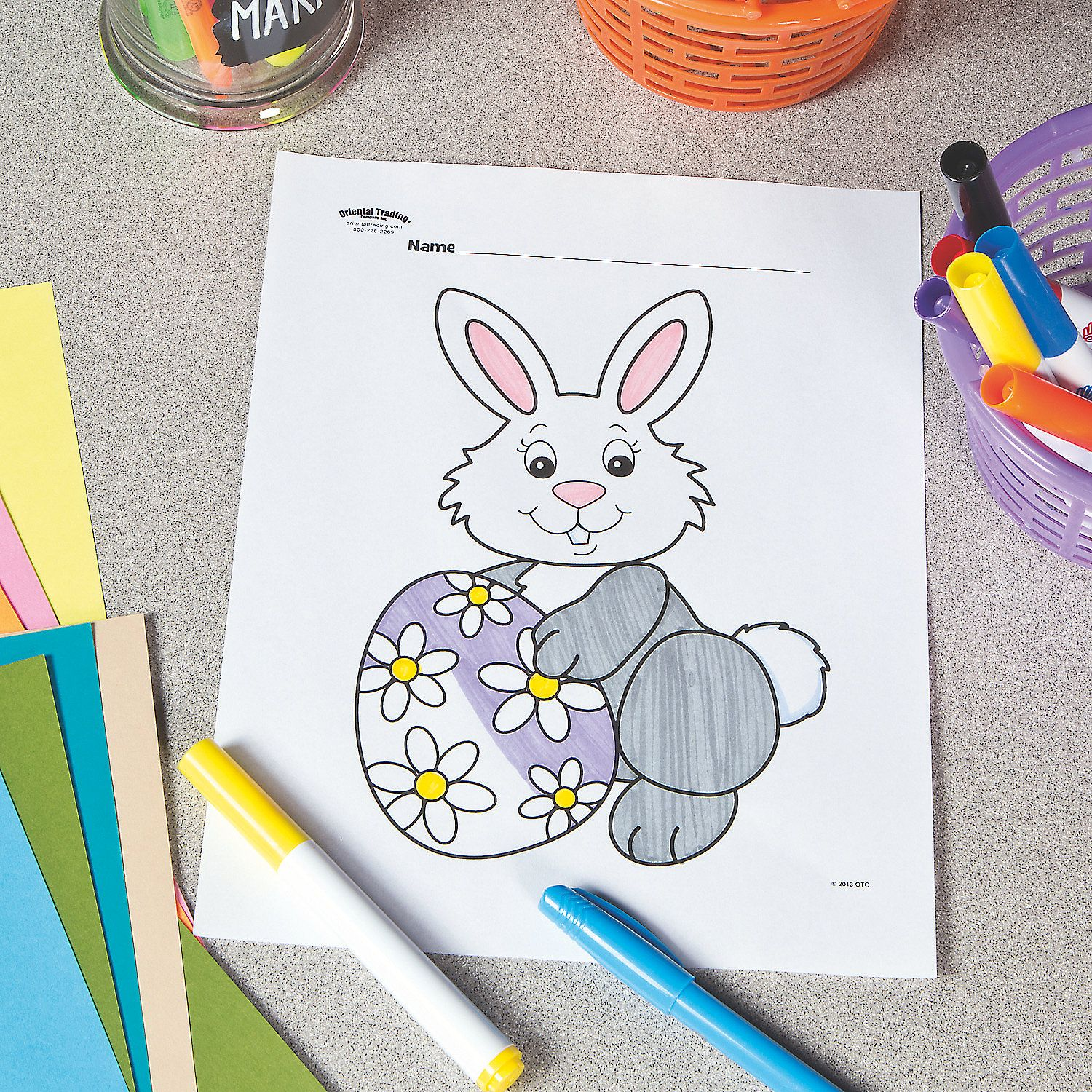 Easter Bunny Free Printable Coloring Page