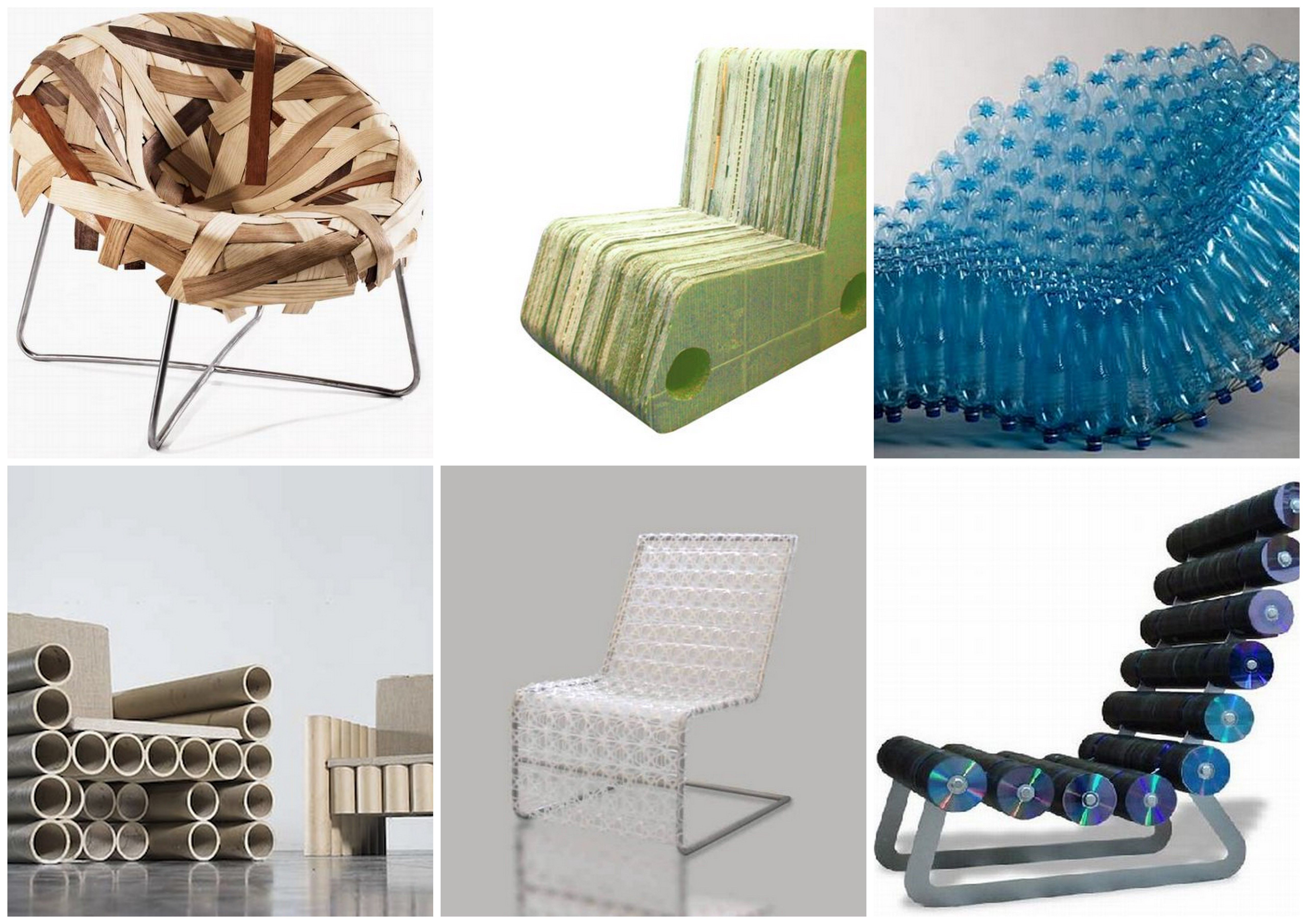 Sillones de materiales reciclados muebles reciclados for Reciclado de sillones