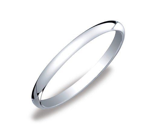 womens 14k white gold 2mm traditional wedding band ring