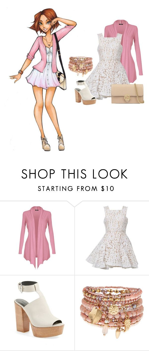 """""""Modern Rapunzel 2.0"""" by lunaheart13 ❤ liked on Polyvore featuring Disney, Alex Perry, Rebecca Minkoff, Accessorize, Gucci and modern"""