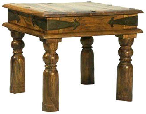 Mercers Furniture - Mesita auxiliar de estilo indio (45 x 45 cm ...