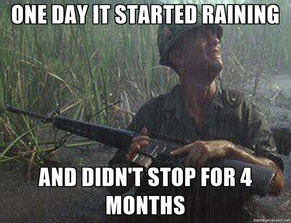 Stop Raining Meme Google Search Forrest Gump Quotes Rain Meme Rain Humor
